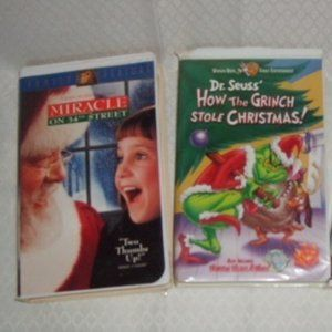 VHS 2 Christmas Miracle on 34thSt/Dr Seuss